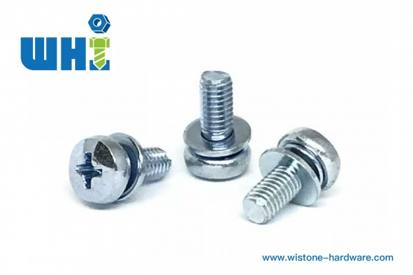 SEMS screw philisterphilips head scrrew with flat washers