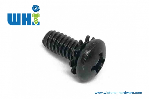 sems screw philips round head withexternal toothed lock washer